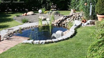 Schön Garten. Gartenteich